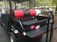 EZGO golf cart accessories like this Cargo Caddie means you can haul stuff from the grocery store, home improvement store or gardening center.