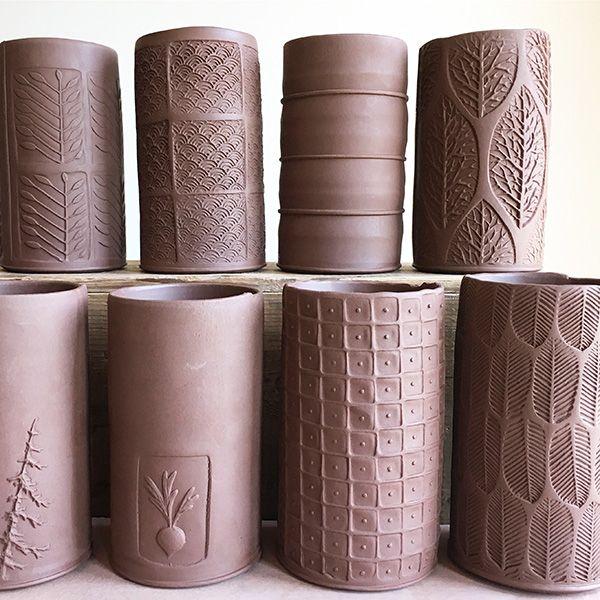 Slab Building With Handmade Texture With Sarah Pike Ceramic Arts Network Pottery Handbuilding Slab Ceramics Hand Built Pottery