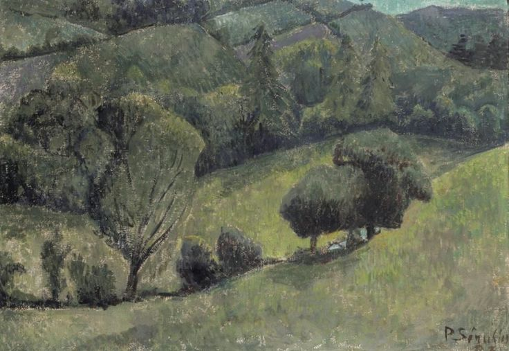 VISION (Paul Sérusier (French, 1864- 1927)  Paysage au...)