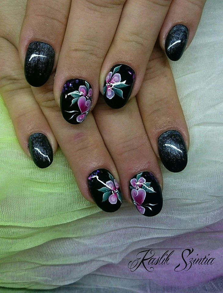 Heart&Flowers Nail Art