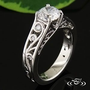wedding set western design the band is very pretty its westerny i dont like the setting of - Western Wedding Rings