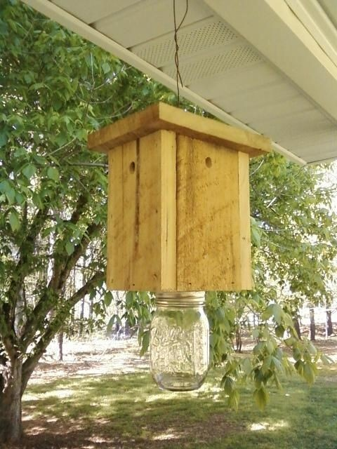 Carpenter Bee Trap  free shipping Go Green  no by LCsWoodtopia, $25.00