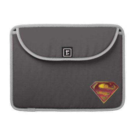 Superman S-Shield | Reflection Logo Sleeve For MacBooks #laptop #computer #ipad #mac #sleeve #bags #modern #colorful