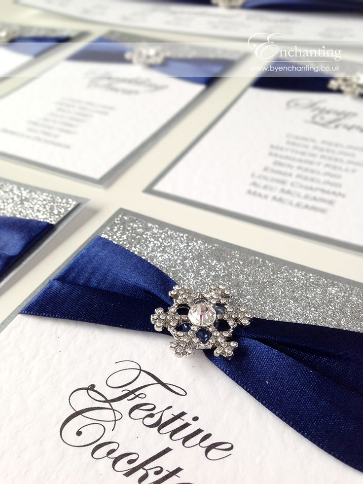 wedding invitation diy kits uk%0A Navy and Silver Winter Wedding Stationery   The Cinderella Collection  DIY  Table Plan   Seating