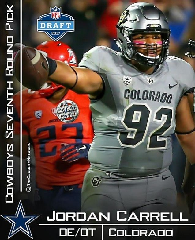 Round 7 Pick 246  DE/DT Jordan Carrell Welcome to the Dallas Cowboys ✭