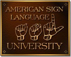 ASLU is an online American Sign Language curriculum resource center