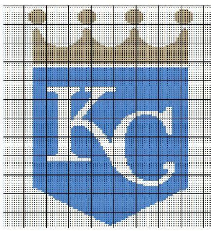 Kansas City Royals Crochet Afghan Blanket Pattern by AngelicCrochetDesign