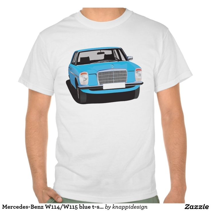 Mercedes-Benz W114/W115 blue t-shirt  #mb #w114 #w115 #mercedes #tshirt #blue #70s