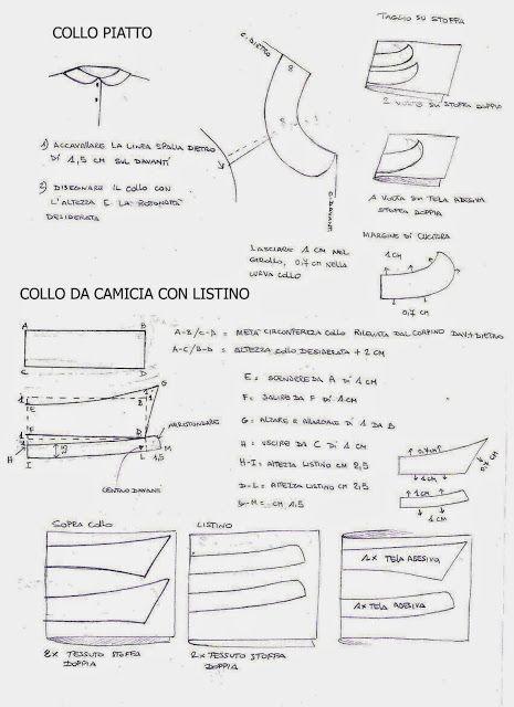 I Quaderni di Studio Manie: COLLO ROTONDO PIATTO E COLLO DA CAMICIA CON LISTINO