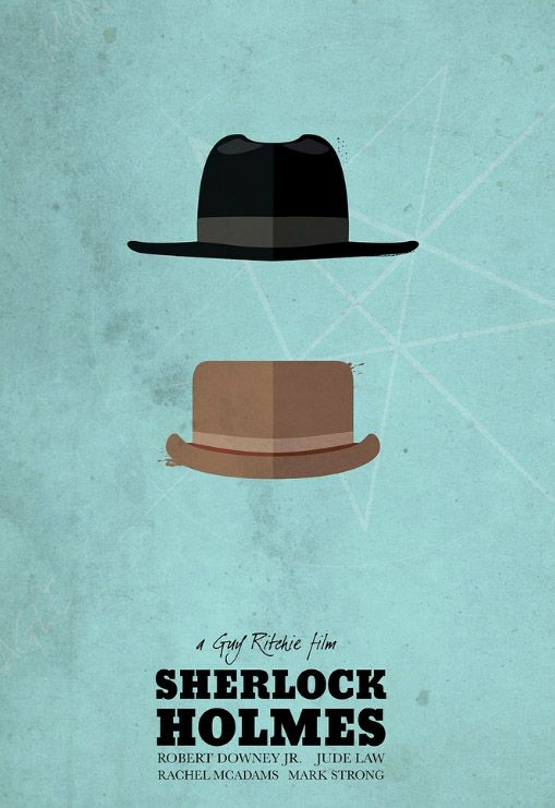 """Sherlock Holmes"" minimalist poster"