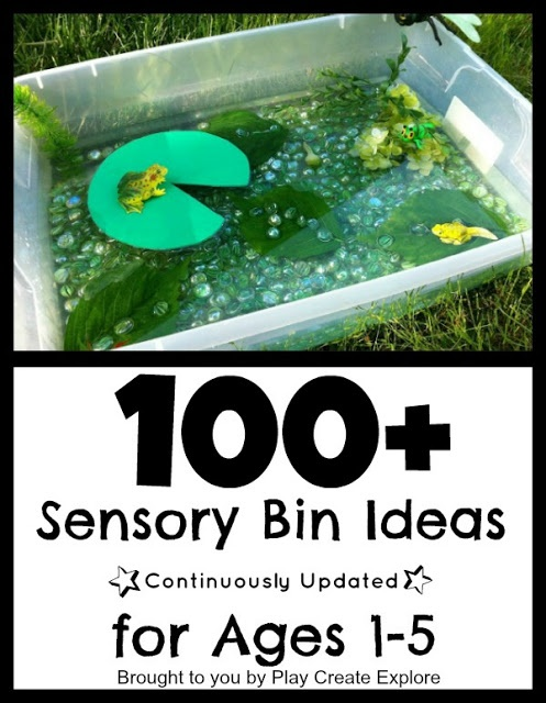 100+ Sensory Bins and Small World Ideas. A continuously updated resource!