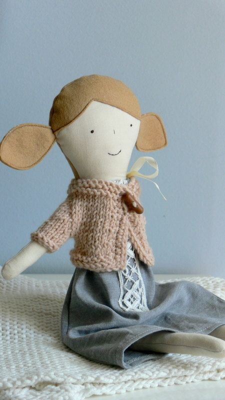 Rag Doll, Dress up Doll, Handmade doll, Unique , Cloth Doll, BERNI by MiniwerkaToys on Etsy