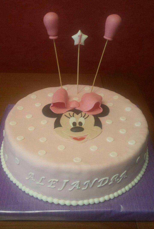 Tarta de Minnie para celebrar su primer añito!