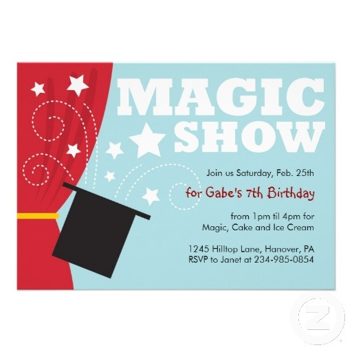 Magic Show Birthday Party Invitations