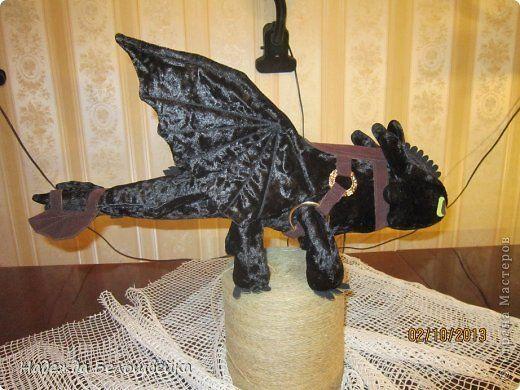 Игрушка Шитьё Дракон Беззубик Ткань фото 3