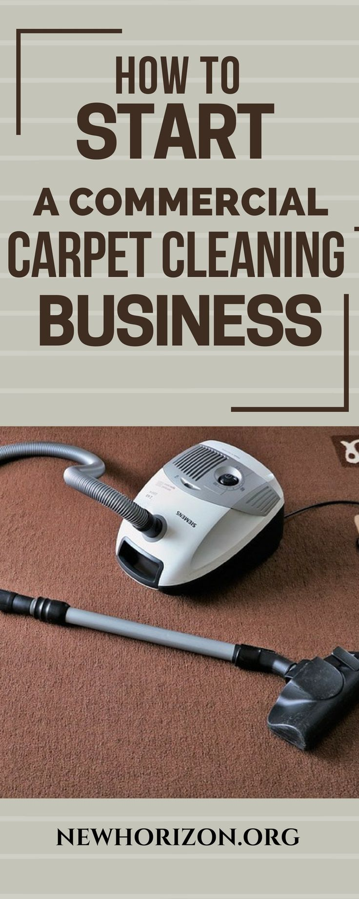 Commercial carpet cleaning business is easy to start because it does not require some of the things a traditional business does.