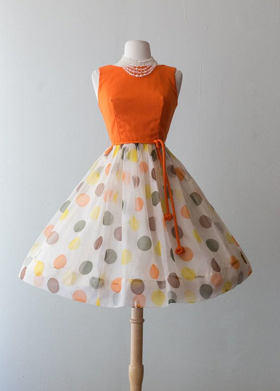 Vintage 1960s Dress , 60s Happiest Day Of The Year Dress