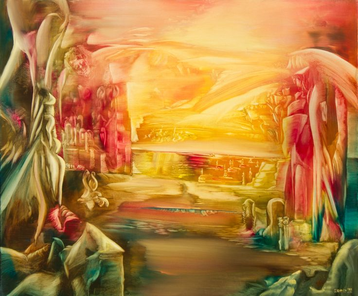 Sphere-existence I. Size: 80 x 100 cm, oil on canvas