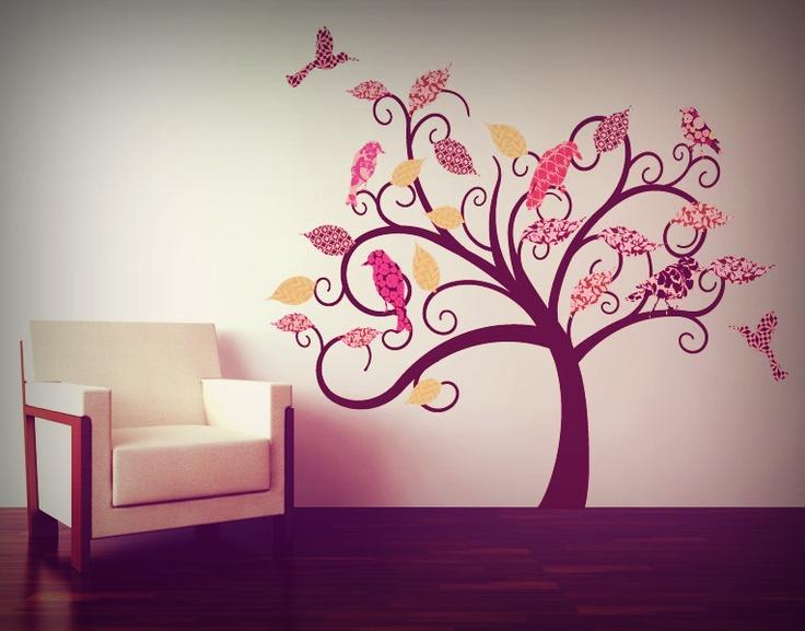 Wandsticker Baum Vintage #Wandtattoo #Baum #Vintage #Wandekoration #Vogel