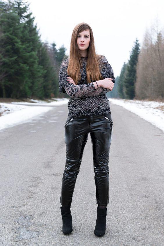 Welche Schwarzer Stiefeletten Mit Leggings Zu Tragen 30 Outfits