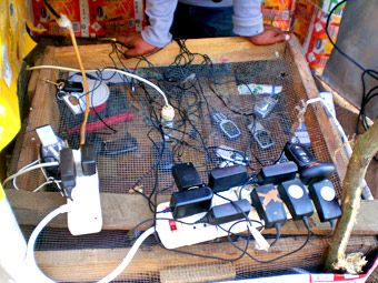 Candy Chang » Shembe Durban South Africa cell phone mobile phone charging station