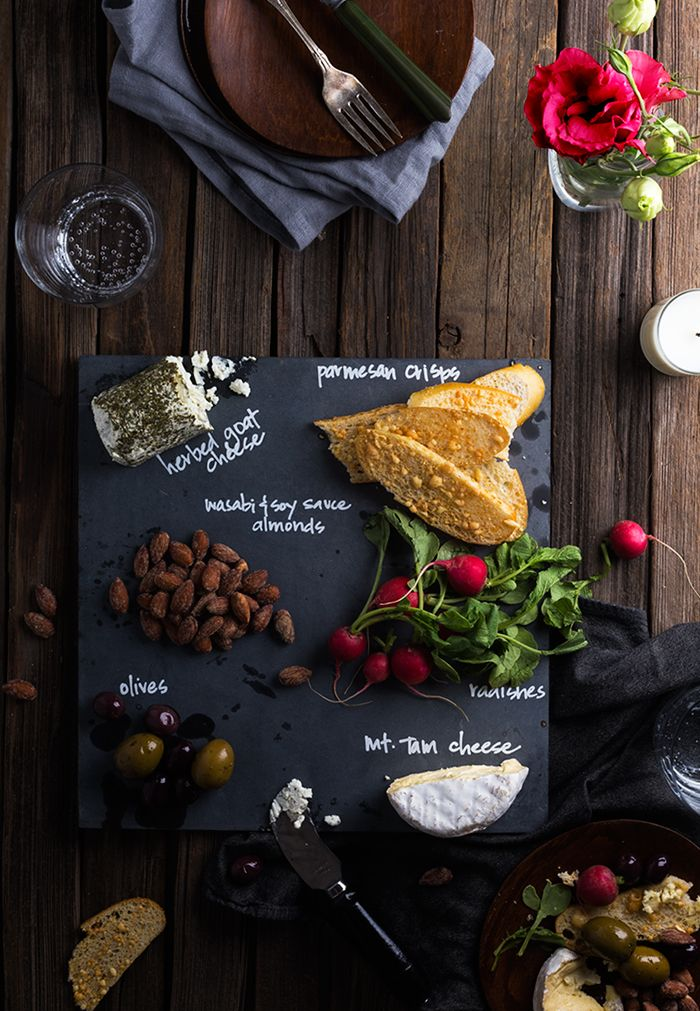 DIY Slate Cheeseboard for $3 #shareacokecontest