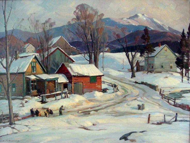 """Mount Mansfield, VT,"" Aldro T. Hibbard, oil on canvas, 30 x 40"", private collection."