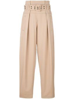 строгие брюки с завышенной талией