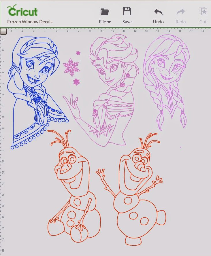 Frozen Cricut Design Space File to share!