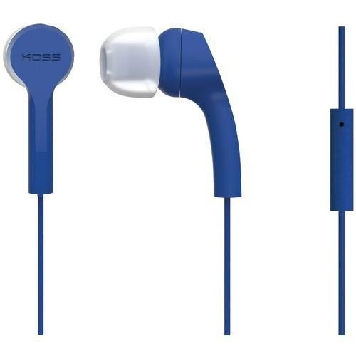 Koss Keb9i Noise-isolating Earbuds With Microphone (blue) (pack of 1 Ea)