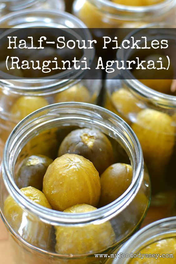 These half-sour pickles are easy to make with just 3 ingredients. Perfect crisp and sour every time!