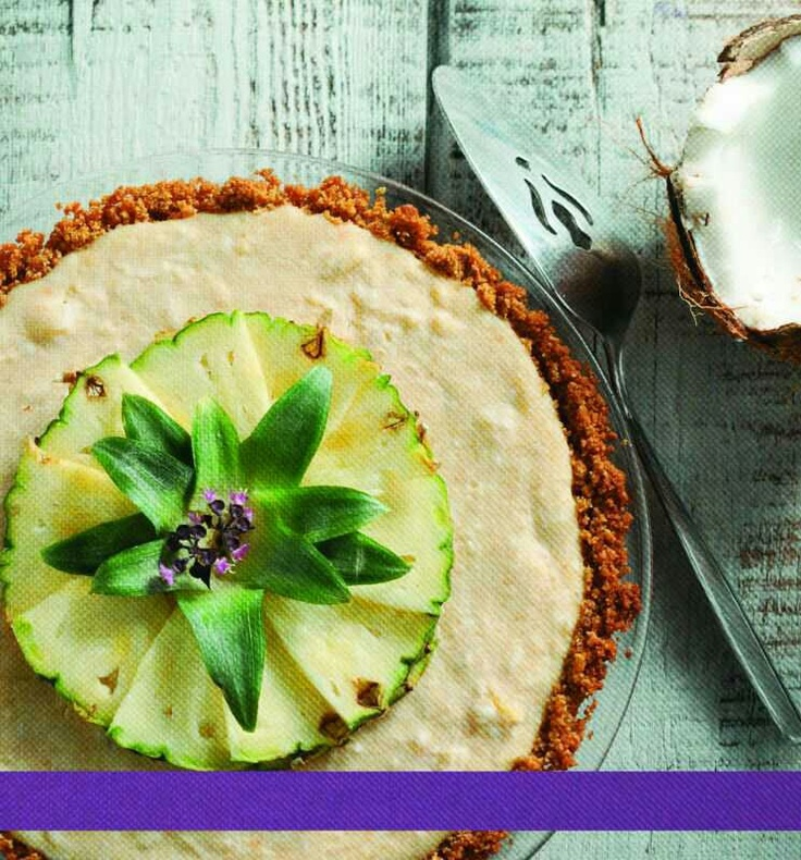Pina colada pie with red lentils... Recent third prize winner in a local pie competition.