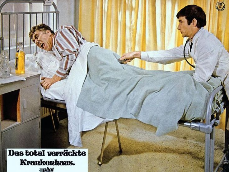 A German lobby card for Carry On Doctor. I've always loved the fact that the german word for hospital is krankenhaus - it's just perfectly descriptive. Carry On Krankenhaus! :0)