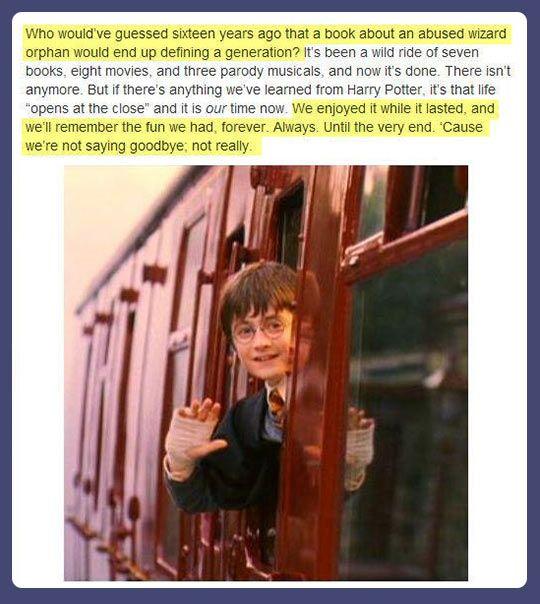 Harry's farewell…