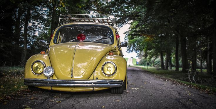 1972 yellow Volkswagen Beetle. Taken by Sophia Perkins.