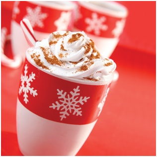 Torani Holiday Drinks--add one ounce of Torani Pumking Pie, Peppermint or Gingerbread Syrup to your cup of hot coffee, cocoa or lattes. BAM a Starbucks quality drink in just a few seconds. I go to URM for my Torani Syrups. Don't be overwhelmed, there really are over 50 flavors Just find one you like and try it.