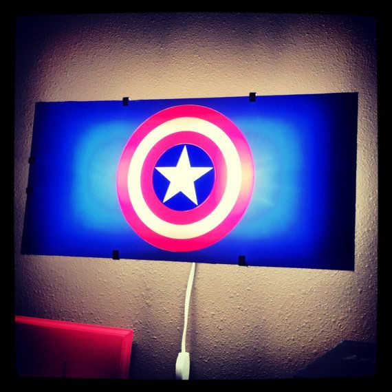 3d Wall Lights Target : Captain America, Avengers, night light, Batman, wall decal, boys room decor, superhero decal ...