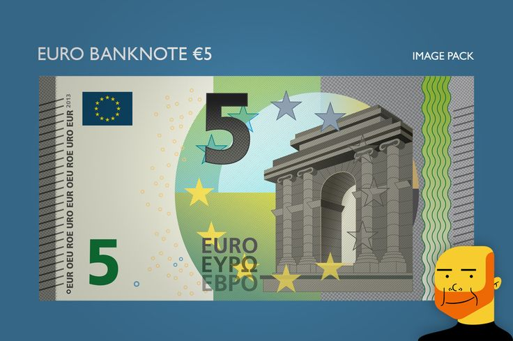 Euro Banknote €5 (Image) by Paulo Buchinho on Creative Market