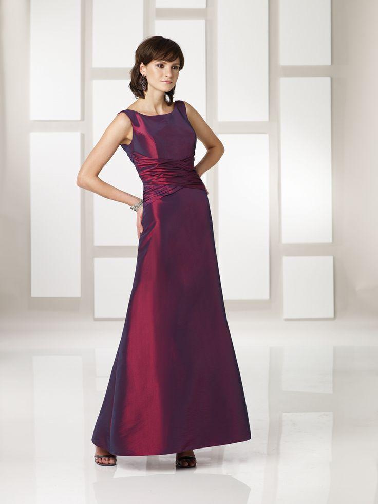 maggie-mandy-, what dovu thinkvofvthis style? Bateau natural waist taffeta bridesmaid dress