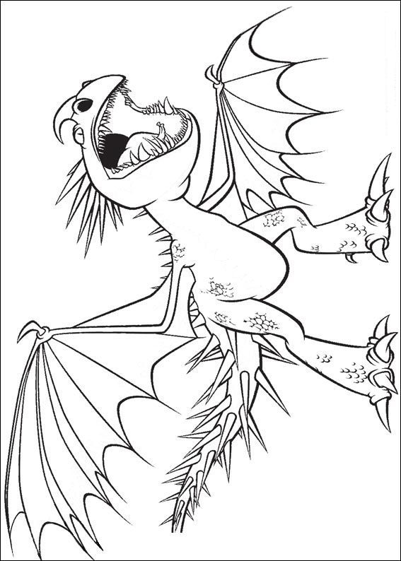 coloring page How to train your
