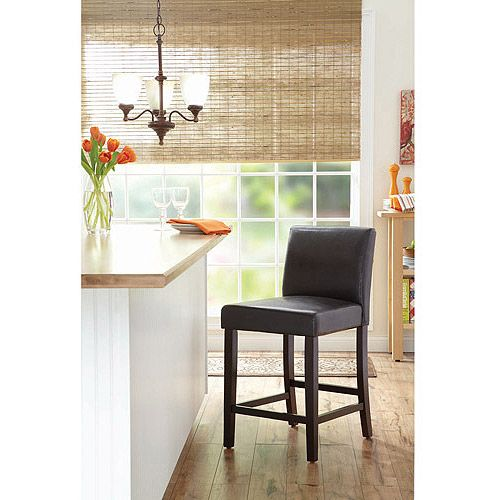 Better homes and gardens 24 parsons barstool set of 3 brown furniture