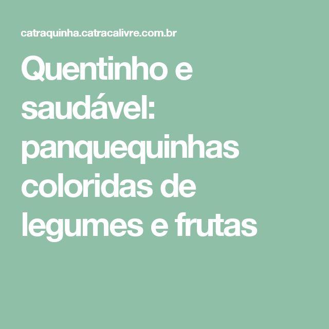 Quentinho e saudável: panquequinhas coloridas de legumes e frutas