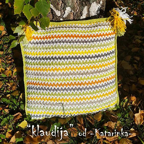 "handmade by -Katarinka- /  ""klaudija"" / háčkovaný vankúš - cuscino all´uncinetto - crocheted cushion"