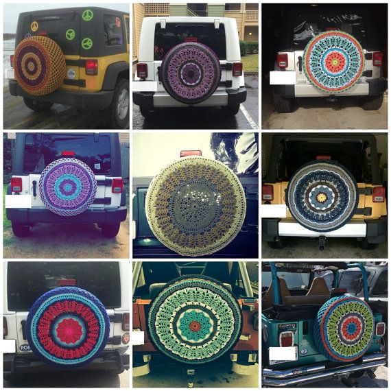 Custom Spare Tire Cover by tristinandcompany on Etsy