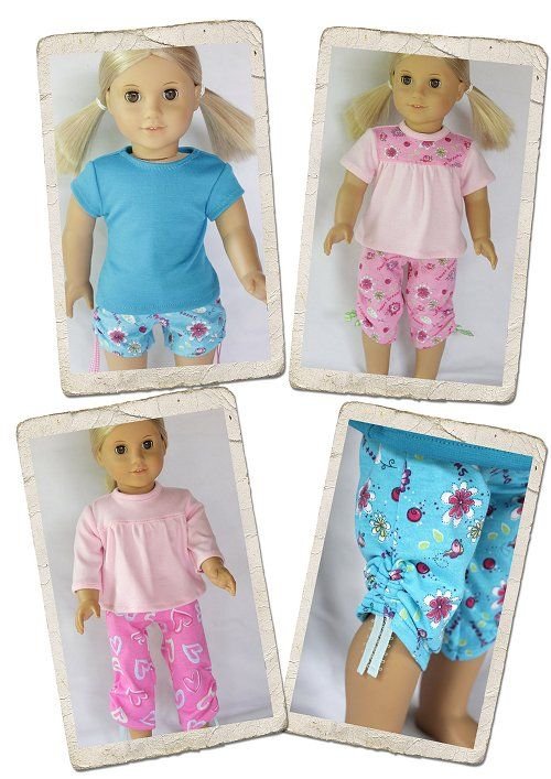 Pajama doll clothes pattern for American ® Girl  from LibertyJane