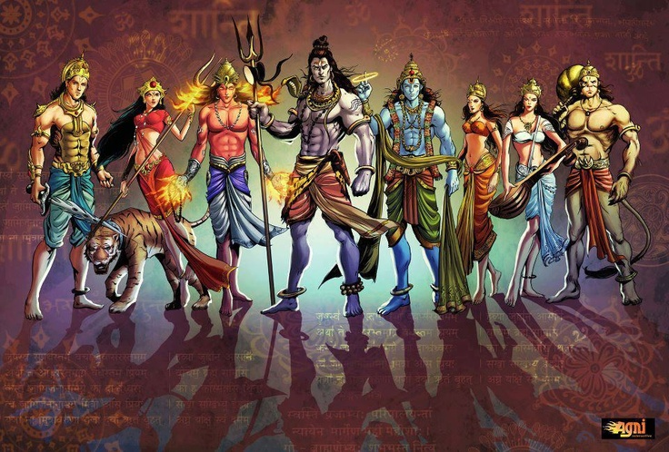 Indian Gods - the Superhero Avatar.: