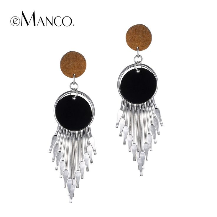 Ethnic Style Dropping Dangle Hanging Earrings for Women Vintage Statement Tassel Earring Silver Plated Fashion Jewelry