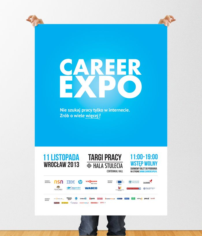 Jedna z pierwotnych koncepcji na plakat Career EXPO, jesień 2013
