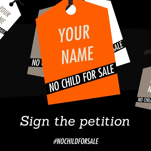 Help us fight child slavery! Sign the #NoChildForSale petition urging Canadian retailers to adopt ethical labour practices and add your name to our wall of petition tags.   Please sign and share, every signature counts! http://nochildforsale.ca/