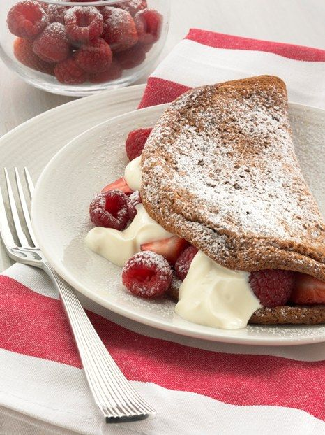 Chocolate Souffle Omelette with Berries and Yoghurt - Farmpride